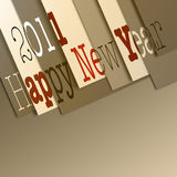 Happy new year 2011. For cards or commercial Royalty Free Stock Images