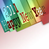 Happy new year 2011. For cards or commercial Royalty Free Stock Photo