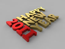 Happy New Year 2011. A render of the words Happy New Year 2011 Stock Photo