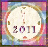 Happy new year 2011. Background with happy new year 2011 Royalty Free Stock Photography