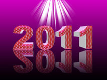 Happy new year 2011. 3D font Stock Image