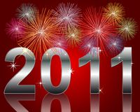 Happy New Year 2011. Illustration of a Happy New Year 2011 Background Royalty Free Stock Image