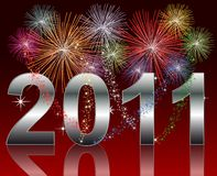 Happy New Year 2011. Illustration of a Happy New Year 2011 Background Stock Photo