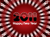 Happy New Year 2011. Red abstract Happy New Year 2011 background Royalty Free Stock Photography