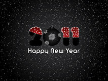 Happy New Year 2011. Black abstract Happy New Year 2011 background Royalty Free Stock Photos