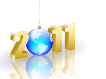 Happy new year 2011. Happy New Year composition for 2011 Royalty Free Stock Image