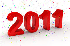 Happy New Year 2011. Background Stock Photos