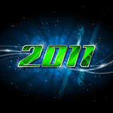 Happy new year 2011. Vector banner happy new year 2011 Royalty Free Stock Photography