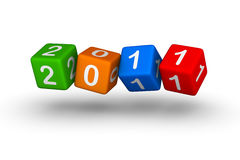 Happy New Year 2011. Colorful cubes Stock Photography