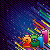 Happy new year 2011. Illustration of happy new year 2011 Royalty Free Stock Photography
