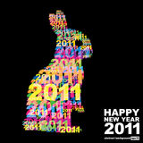 Happy New Year 2011. Abstract background (eps10 stock illustration