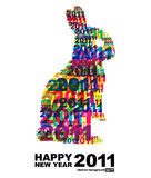 Happy New Year 2011. Abstract  background (eps10 Stock Images