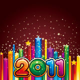 Happy new year 2011. Illustration of happy new year 2011 royalty free illustration
