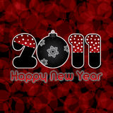 Happy New Year 2011. Red abstract Happy New Year 2011 background Stock Images