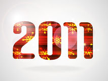 Happy New Year 2011. Abstract background. Vector illustration (eps10 stock illustration