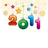 Happy new year 2011. Illustration of happy new year 2011 Royalty Free Stock Photo