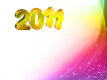 Happy New year 2011. Greeting to new year 2011 Stock Illustration