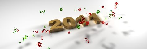 Happy New year 2011. 3d new year 2011 Royalty Free Stock Image