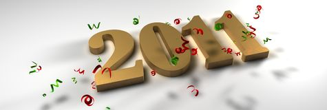 Happy New year 2011. 3d new year 2011 Royalty Free Illustration