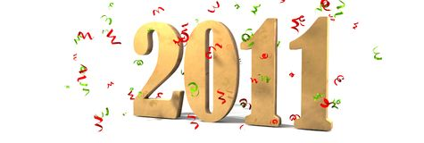 Happy New year 2011. 3d new year 2011 vector illustration