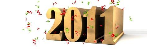 Happy New year 2011. 3d illustration stock illustration