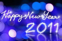 Happy new year 2011 backgroud. Happy new year 2011 blue lighting backgroud Royalty Free Stock Photos
