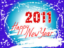 Happy New Year 2011 background. Happy New Year 2011 inscription on a winter background Royalty Free Stock Photos