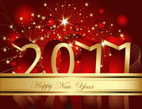 Happy New Year 2011 background. With gold decoration Stock Image