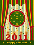 Happy new year 2011 background. Illustrated happy new year 2011 background Royalty Free Stock Photo