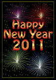 Happy New Year 2011 greeting card Stock Photos