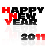 Happy new year 2011 label. On white background Stock Photos