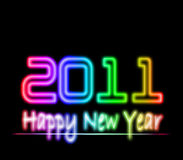Happy new year 2011 laser light Stock Photos