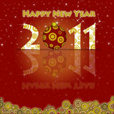 Happy New Year 2011 Ornament and Circels Royalty Free Stock Photos