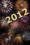 Happy new year 2012. Fireworks Stock Photos