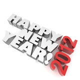 Happy New Year 2012. 3D image Royalty Free Stock Photography