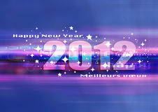 Happy new year 2012. Good and happy new year 2012, festive world Royalty Free Stock Images