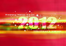 Happy new year 2012. Good and happy new year 2012, festive world Stock Photos