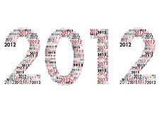 Happy New Year 2012. Year 2012 in separat numbers Royalty Free Stock Photo
