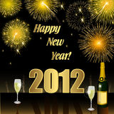 Happy New Year 2012. And Merry Christmas Royalty Free Stock Photo