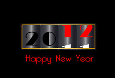 Happy New Year 2012. With black background Royalty Free Stock Images