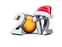 Happy new year 2012. On white background royalty free illustration