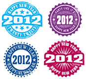 Happy New Year 2012. Great selection of vintage style graphics for New Years. Perfect for party invites Stock Photography