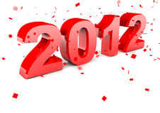 Happy New Year 2012. In 3d Royalty Free Stock Photo