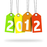 Happy new year 2012. Happy new year tag 2012 Stock Image