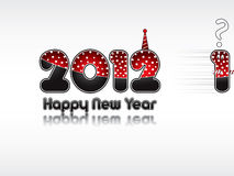 Happy New Year 2012. Funny New Year's Eve greeting card vector illustration