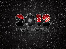 Happy New Year 2012. Black abstract Happy New Year 2012 background Royalty Free Illustration