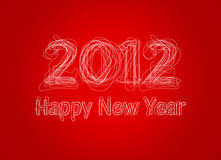 Happy New Year 2012. Logo 2012 merry christmas like a graphic style on gray background Royalty Free Stock Image