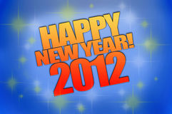 Happy New Year 2012. Background computer rendered Stock Photography