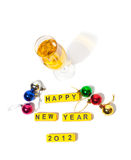 Happy new year 2012. Picture of inscription happy new year 2012 Stock Photography