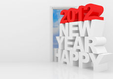 Happy New Year 2012. 3d illustration Royalty Free Stock Photos